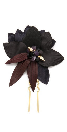 Lizzie Fortunato Dark Petal Hair Pin at Shopbop / East Dane