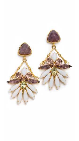 Lizzie Fortunato Lotus Blossom Earrings