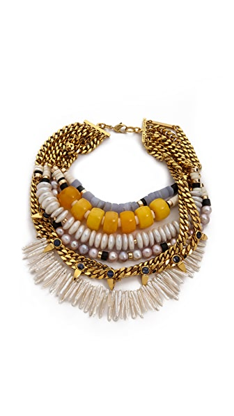 Lizzie Fortunato The Golden Pavillion Necklace