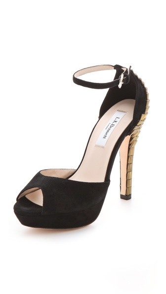 L.K. Bennett Bellini Peep Toe Sandals