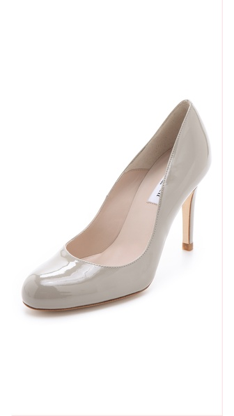 L.K. Bennett Shilo Round Toe Pumps