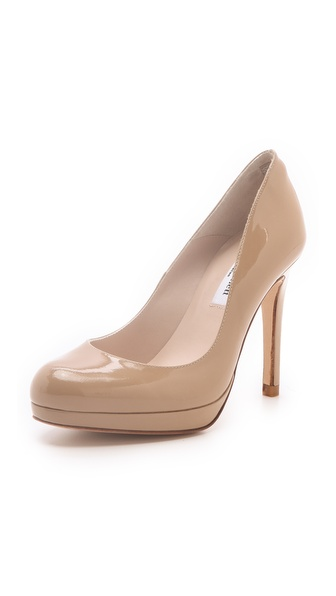 L.K. Bennett Sledge Patent Platform Pumps - Taupe at Shopbop / East Dane