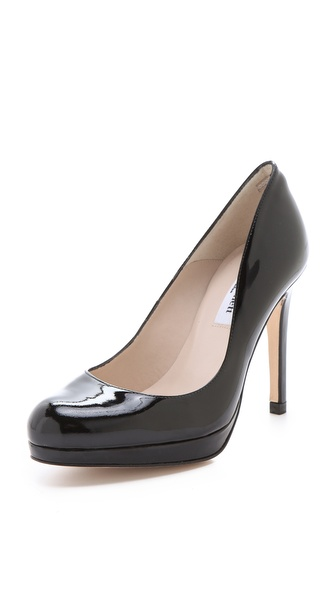 L.K. Bennett Sledge Patent Platform Pumps