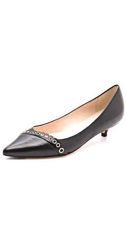 L.K. Bennett Lara Kitten Heel Pumps with Eyelets at Shopbop / East Dane