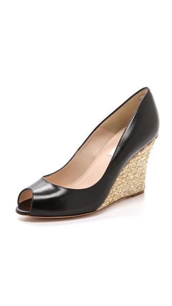 L.K. Bennett Estela Wedge Pumps - Black