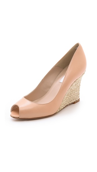 L.K. Bennett Estela Wedge Pumps - Taupe
