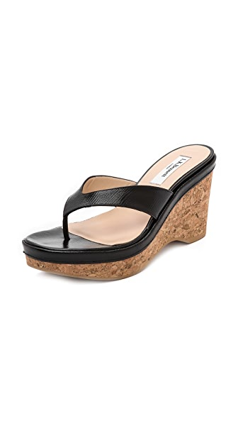 L.K. Bennett Laura Thong Wedge Sandals