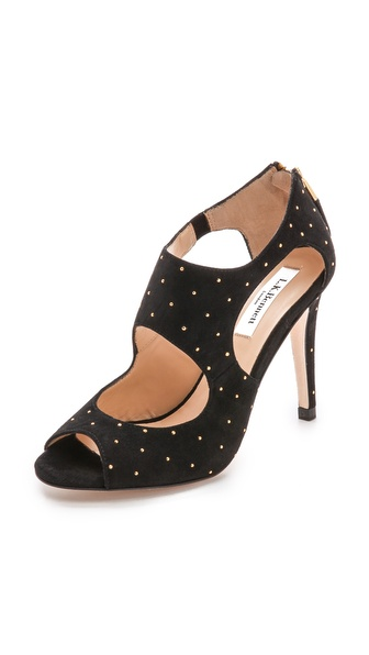 Kupi L.K. Bennett cipele online i raspordaja za kupiti L.K. Bennett Alma Open Toe Studded Sandals Black/Gold cipele