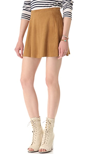 Love Leather Suede A Line Miniskirt