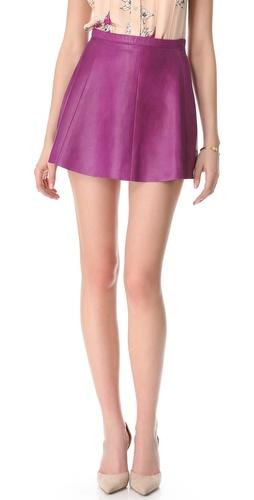 Love Leather Jawbreaker A Line Mini Skirt