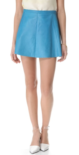 Love Leather Snow Cone A Line Mini Skirt