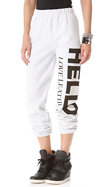 Love Leather Logo Fleece Sweatpants