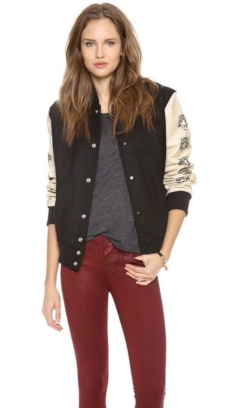 Love Leather Lover Letterman Jacket