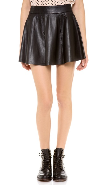 Love Leather Cake Leather Skirt