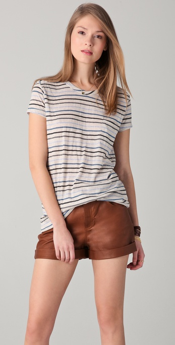 Le Mont St. Michel Striped Tee