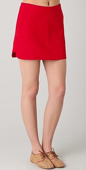 Le Mont St. Michel Pieced Miniskirt