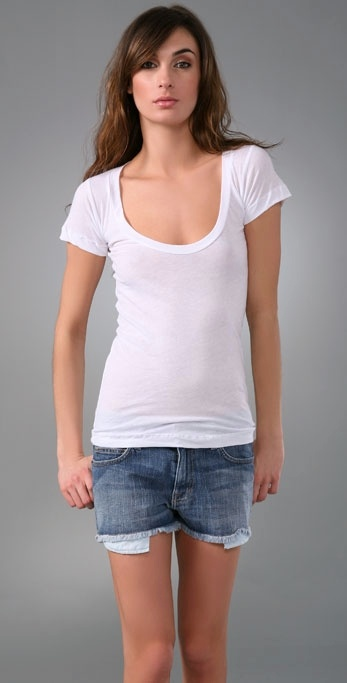 LNA Deep Scoop Short Sleeve Tee