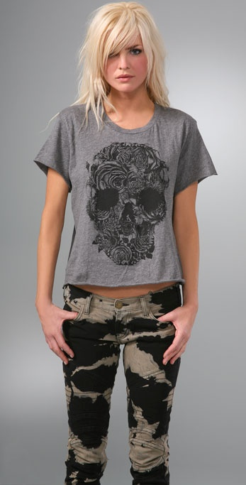 LNA Rocker Cropped Music Tee