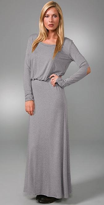 LNA Open Elbow Long Dress