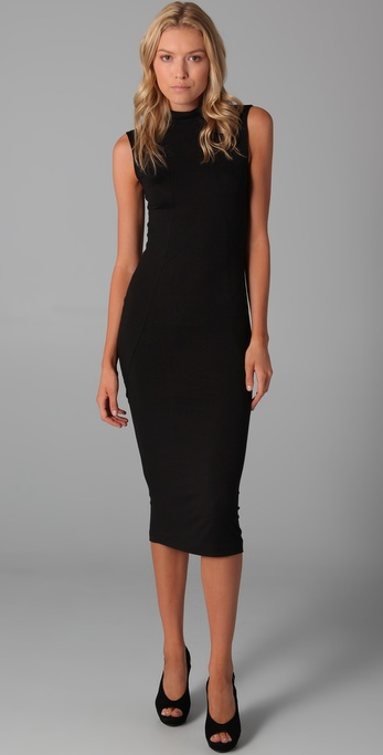 LNA Sleeveless Turtleneck Dress