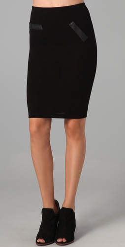 LNA French Terry Pencil Skirt