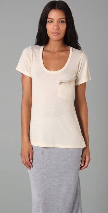 LNA Slant Zipper Pocket Tee