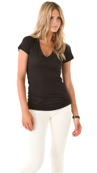 LNA Short Sleeve V Neck Tee