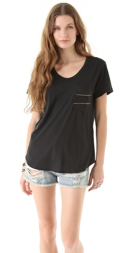 LNA Deconstructed Zipper Tee