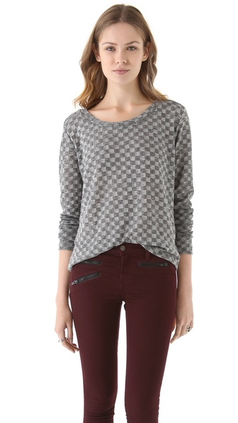 LNA Checkered Sweater