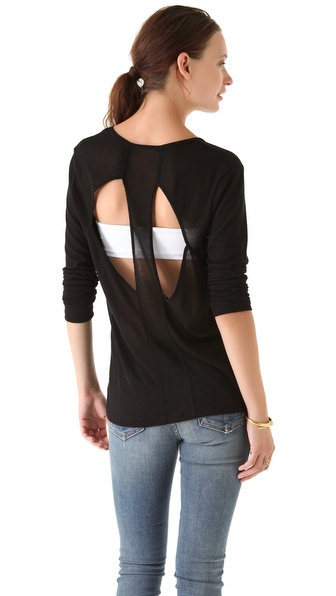 LNA Vogal Cutout Sweater