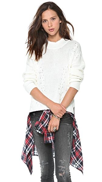 LNA Braided Turtleneck Sweater