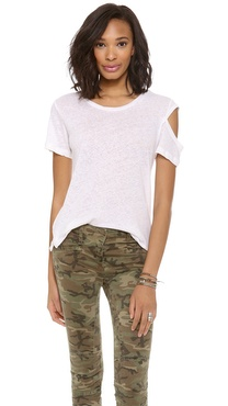 LNA Shoulder Cutout Tee