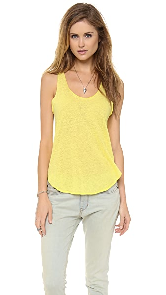 LNA Raw Edge Linen Tank