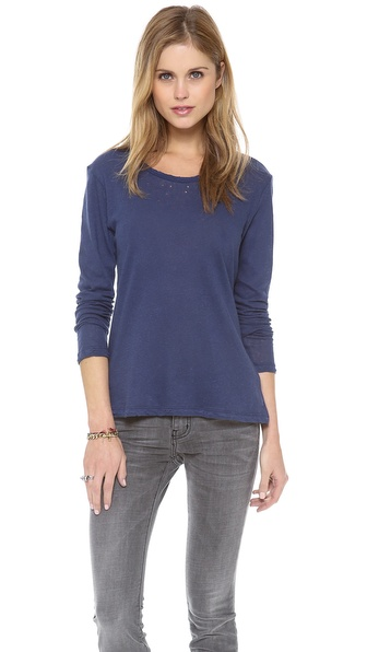 LNA Distressed Long Sleeve Tee