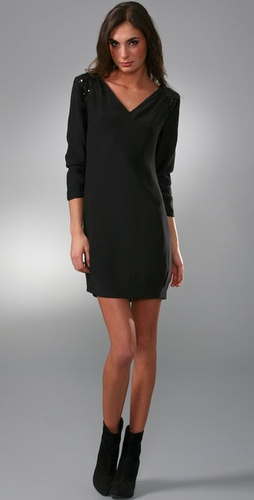 Loeffler Randall Shoulder Trim Dress