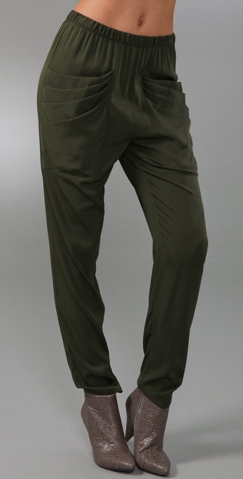 Loeffler Randall Draped Pocket Pants