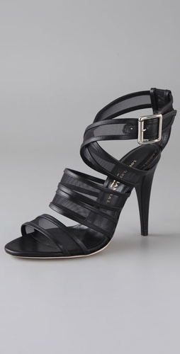 Loeffler Randall Paige Mesh Crisscross Sandals