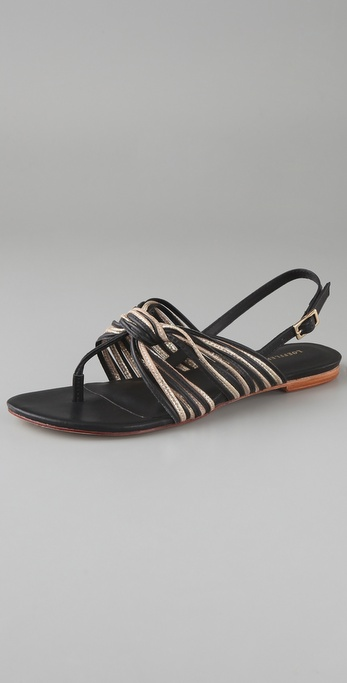 Loeffler Randall Gioia Strappy Flat Sandals
