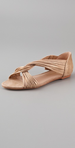 Loeffler Randall Mignon Twist Flat Sandals