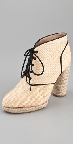Loeffler Randall Nadia Lace Up Platform Booties