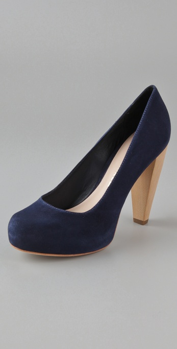 Loeffler Randall Esther Hidden Platform Pump with Stacked Heel