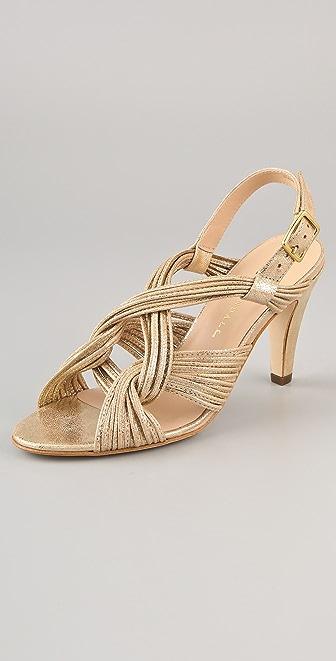 Loeffler Randall Roanne Mignon Metallic Knot Sandal