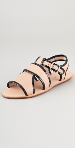 Loeffler Randall Heart LR Selima Flat Sandals