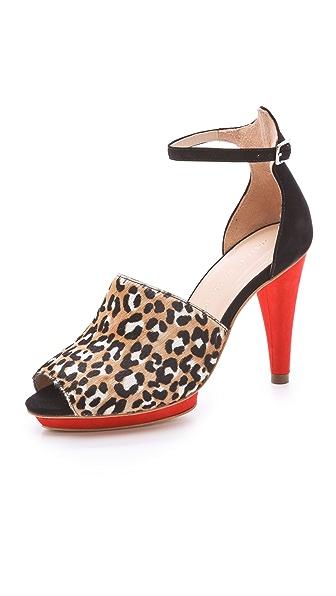 Loeffler Randall Rosie Haircalf Platform Sandals
