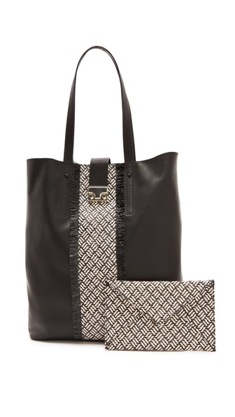 Loeffler Randall The Locker Tote / Clutch Set