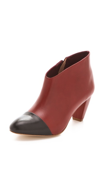 Loeffler Randall Nanette Cap Toe Booties