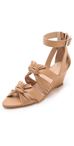Shop Loeffler Randall Alana Twist Wedge Sandals - Loeffler Randall online - Footwear,Womens,Footwear,Sandals, at Lilychic Australian Clothes Online Store