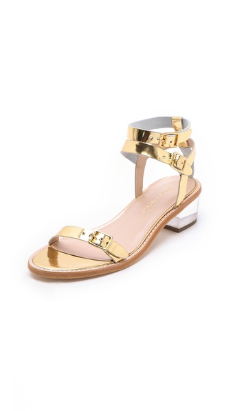 Loeffler Randall Heddie Lucite Heel Sandals
