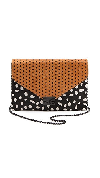 Loeffler Randall The Haircalf Lock Clutch