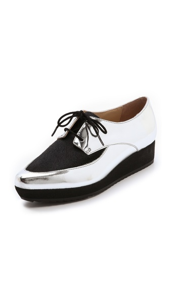 Loeffler Randall Calla Mirrored Platform Oxfords